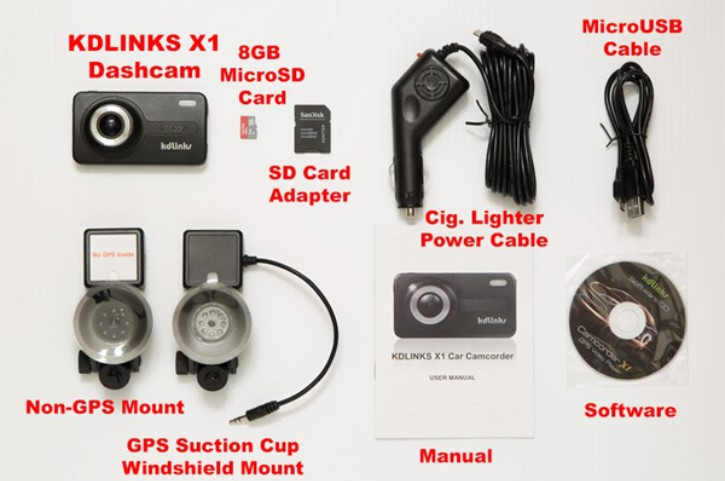 KDLINKS X1 sales package best truck dash cam