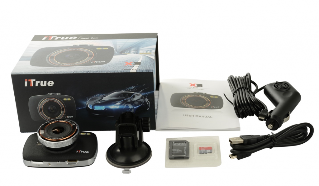 ITrue X3 sales package best truck dash cam